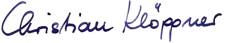 Unterschrift Christian Klöppner